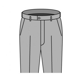 ベルトレスループ付き パンツデザイン