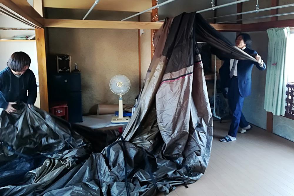 テント乾燥サービス